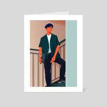 Street Fashion - Art Card by Adriana Bica