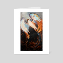"""Phoenix - Beauty from Ashes"" - Art Card by Jennifer Garrett"