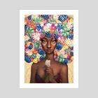 "Flower Crown - Art Print by Ejiwa ""Edge"" Ebenebe"