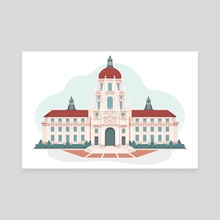 Pawnee City Hall (Parks and Recreation fan art) - Canvas by Chris Cerrato