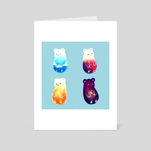 SKY BEARS - Art Card by Nadia Kim