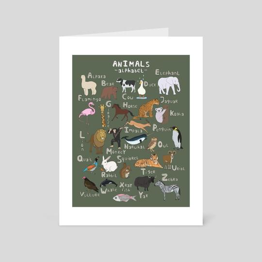 Animals Alphabet by marrie green