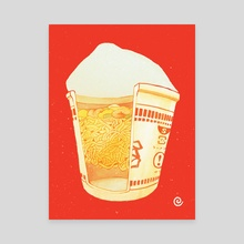Cup Ramen - Canvas by Sarah Gonzales