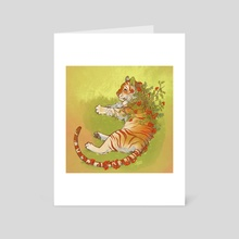 Botanimals - Rowan Tree Tiger - Art Card by KM Steere