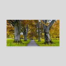 The Autumn Road - Canvas by Eirik Sørstrømmen