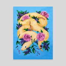 Floral Snake - Canvas by Rachele Artuso