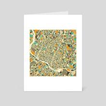 Austin Map - Art Card by Jazzberry Blue