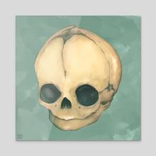 Foetus Skull - Acrylic by Kytie a