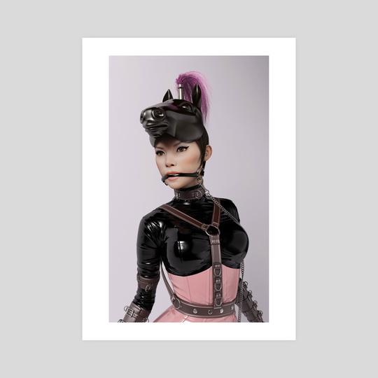 Plastic Series: Pink Amazon (Portrait) by Rebeca Puebla