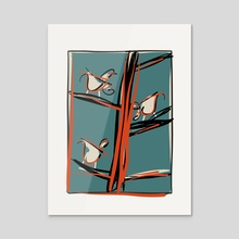 Birds in a tree 2 - Acrylic by Laura Chemello