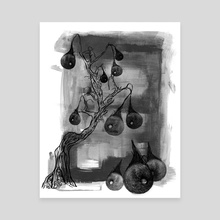 Orchard Harvest - Canvas by Marjan Krom Clairet