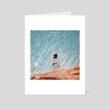 GALACTIC RAIN - Art Card by Abraham  Yael