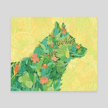 Green Pets - Canvas by Gaby D'Alessandro