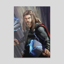 God of Thunder - Acrylic by Alex StG