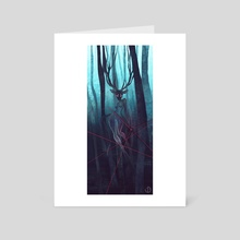 Bleu Forest - Art Card by Vincent Belbari