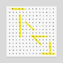 Word Search - Canvas by Kyle Smith