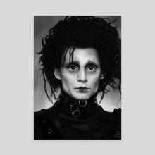 Edward Scissorhands - Canvas by Anastasja Andrejas