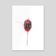 The Emptiness of Masks - Deadpool - Acrylic by Rich McCoy