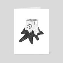 non-binary etchings - Art Card by Holly, Match + Bone