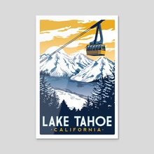 lake tahoe california - Acrylic by matt schnepf