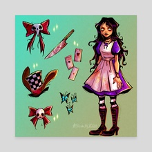 Dark Alice aesthetics - Canvas by Elisabeth Zill