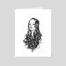 Curls - Art Card by Daniela Mejia