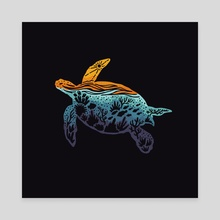 Sea Turtle - Canvas by Jimmy Bryant