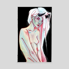 demon - Canvas by Rachel Rainey
