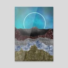 Marbe canyon - Acrylic by Anna Shapovalova