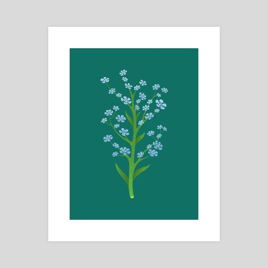 Blue Flower by Mia Semone