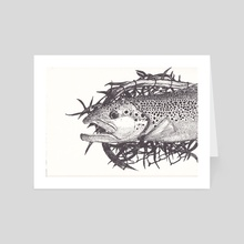 Fish - Art Card by Jason Vukovich