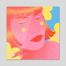 Flower Power 2 - Acrylic by Clémence Gouy
