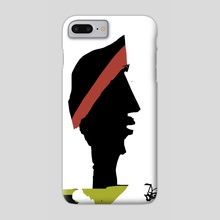 Profile in black - Phone Case by Jorge Heilpern