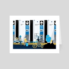 BART - Ticket to the Bay - Art Card by bionyo