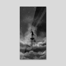 Waiting in the Sky - Acrylic by Ra Lu