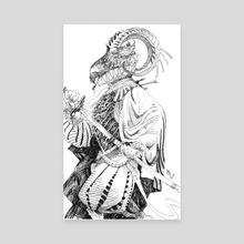 Tudor Goat-Folk - Canvas by Abigail Harding