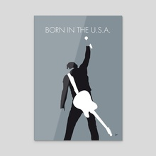 No017 MY Bruce Springsteen Minimal Music poster - Acrylic by Chungkong
