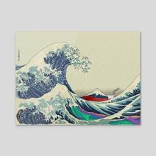 The Great Wave off Kanagawa 2016 - Acrylic by Gregor Burns