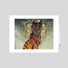 Halo Tiger - Art Card by Aspen Eyes