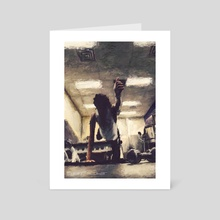 the gym no. 22 - Art Card by Edwin Escobar