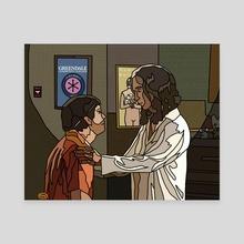 Messianic Abed - Canvas by Jordan de Graaf
