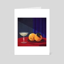 Champagne & Oranges - Art Card by Kristin  Eriksson