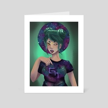 Nebulosa Girl - Art Card by Gabrielle Macarty