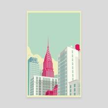 Park Avenue New York City - Canvas by Remko Gap Heemskerk