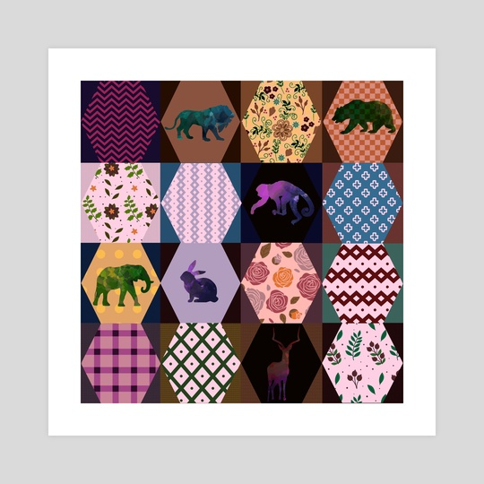 Graphic patchwork 17 by Michal Eyal