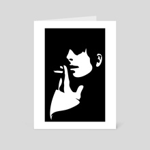 Girl with cigarette - Art Card by Sasha Mirov