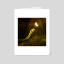 Luminescent Wings - Art Card by Olivia Olenzuk
