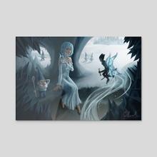 Frost Princess - Acrylic by Willian de Andrade Conrado