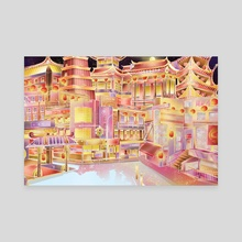 Chinatown at Midnight - Canvas by Feng