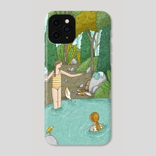 Day-trip To The Fountain - Phone Case by Alona Millgram